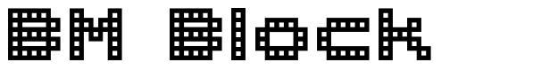 BM Block font