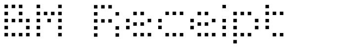 BM Receipt font