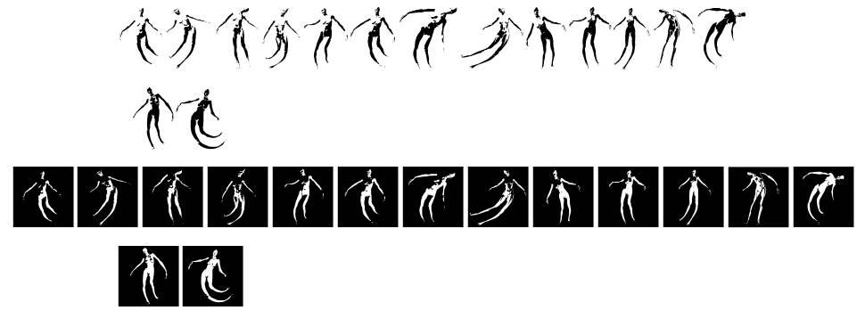 Body Moving czcionkę