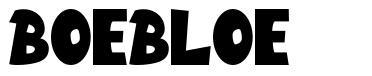 Boebloe font