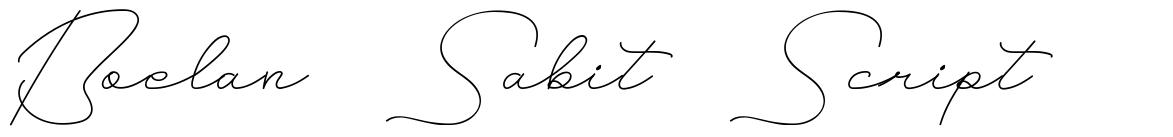 Boelan Sabit Script