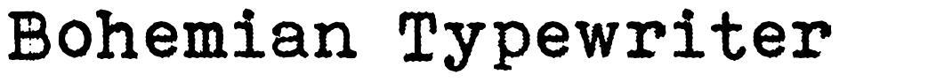 Bohemian Typewriter 字形