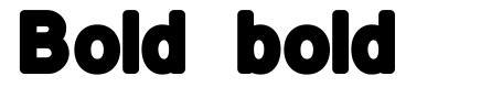 Bold bold 字形
