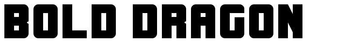 Bold Dragon font