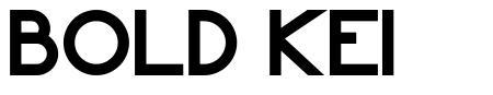 Bold Kei шрифт