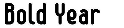 Bold Year font
