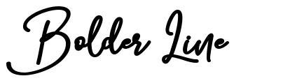 Bolder Line font
