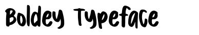 Boldey Typeface