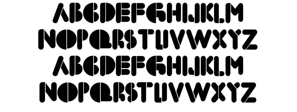 BoldFace Stencil schriftart