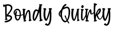Bondy Quirky font