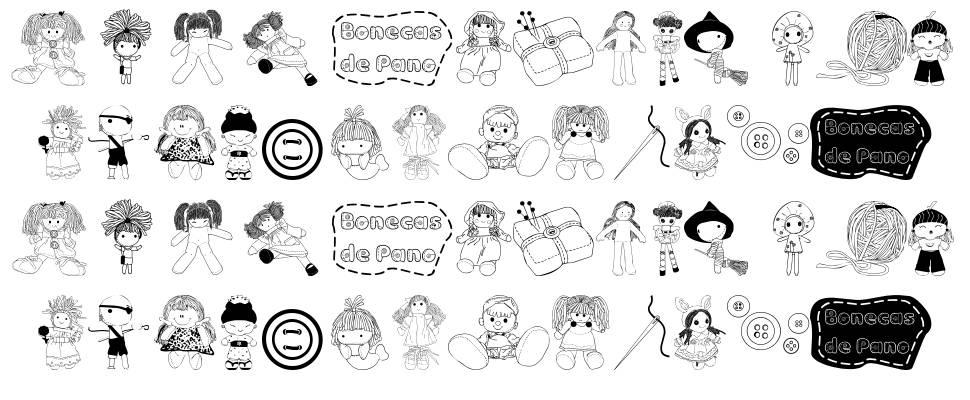 BonecaS de Pano font
