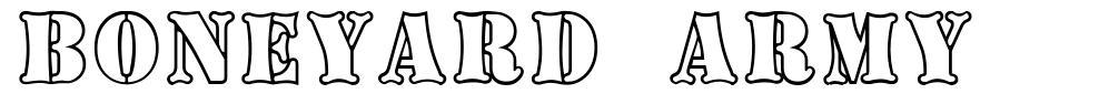 Boneyard Army font