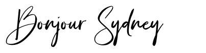 Bonjour Sydney fuente