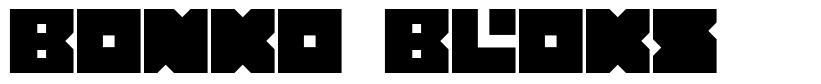 Bonko Bloks font