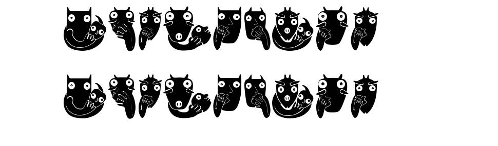 Bonvenon 字形