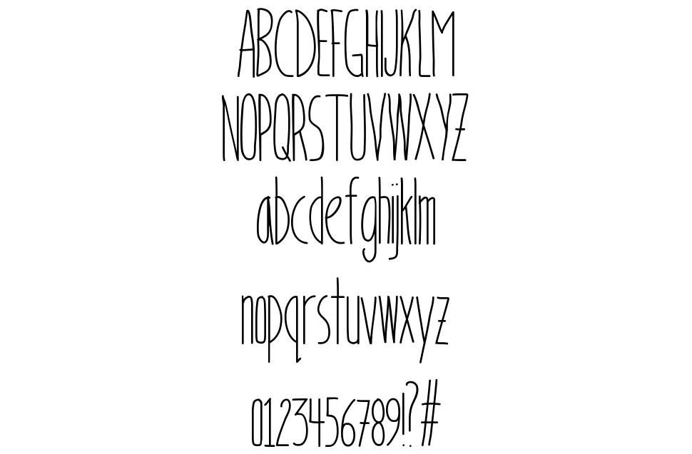 Bookends font