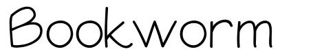 Bookworm font