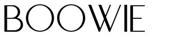 Boowie font