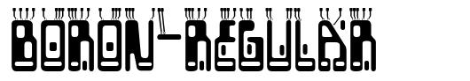 Boron-Regular font