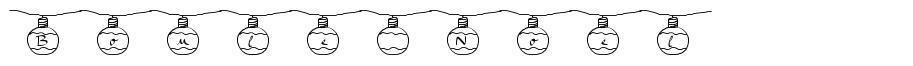Boule Noel font