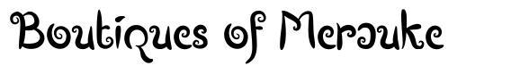 Boutiques of Merauke font