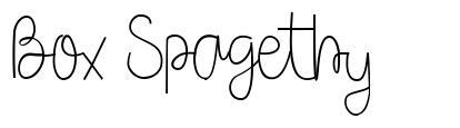 Box Spagethy font