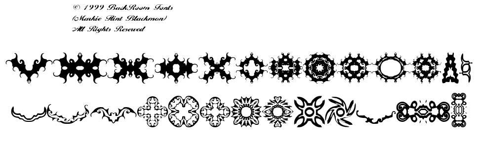 BR Thorns font
