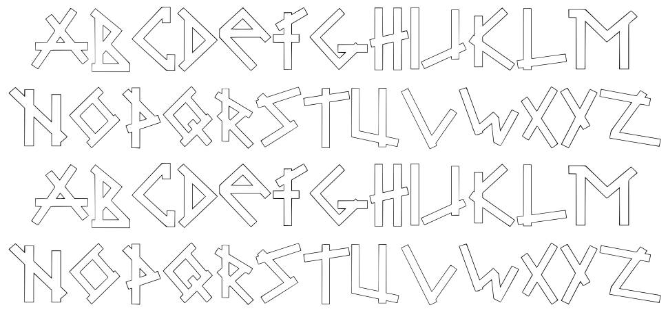 Brabbel Blocks font