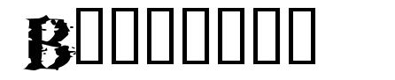 Brackish шрифт
