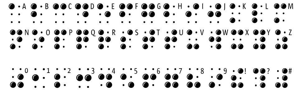 Braille Latin font