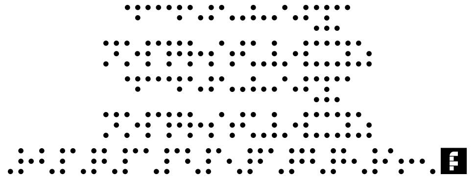 Braille Printing font