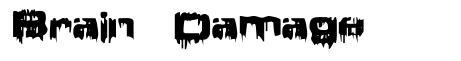 Brain Damage font