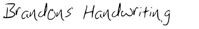 Brandons Handwriting