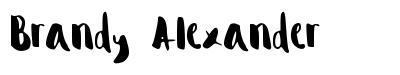 Brandy Alexander schriftart