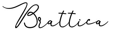 Brattica font