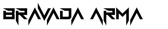 Bravada Arma шрифт