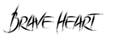 Brave Heart font
