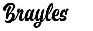 Brayles font