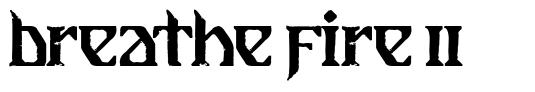 Breathe Fire II フォント