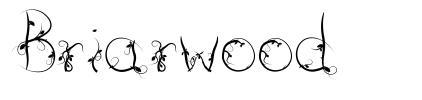 Briarwood font