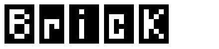 Brick шрифт