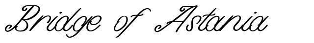 Bridge of Astania font