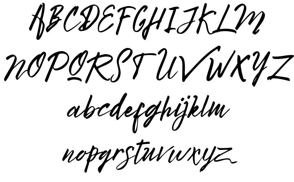 Bright Sunshine font