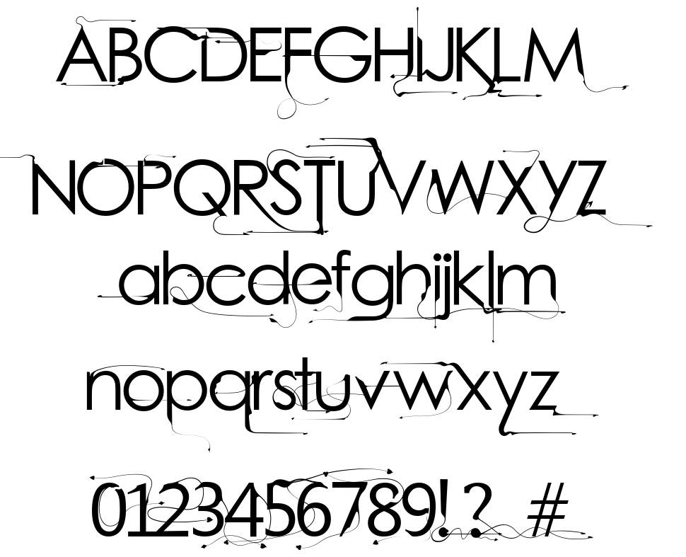 Bright Young Things font