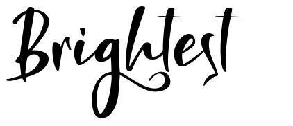 Brightest font