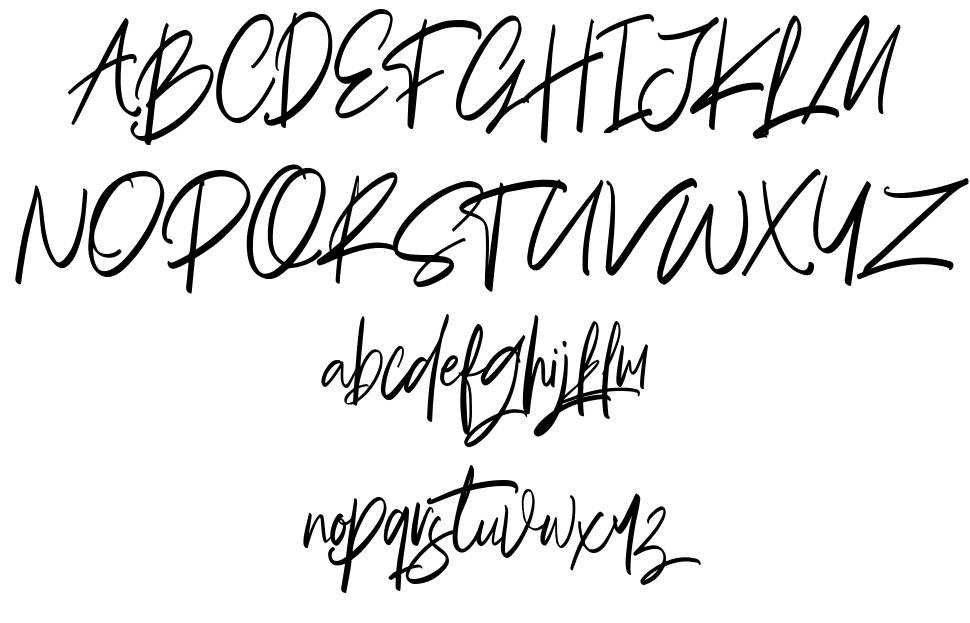 Briliantine Script czcionkę