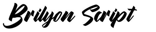 Brilyon Script font