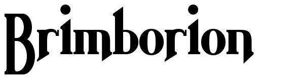 Brimborion font