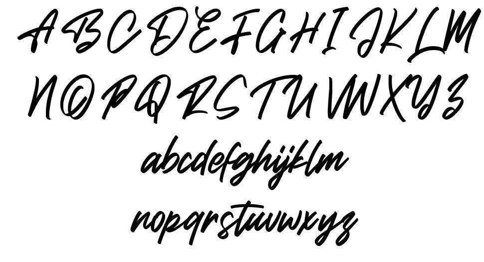 Brish Hair font