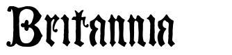 Britannia font
